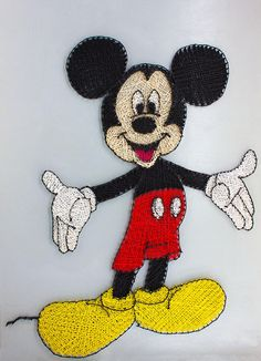 Mickey String Art Disney Art Mickey Mouse Birthday Kids Mickey Mouse Birthday, Birthday Kids, Hilograma Ideas, Art Disney, Art Therapy Activities, Diabetic Dog, Dog Snacks, Abstract Wall Art, Vintage Colors