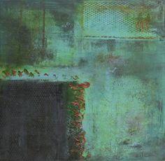 """""""Beginnings""""---Cynthia J Lee (www.cynthiajlee.com). My first painting in oil and cold wax, with pastels and graphite. I absolutely love the possibilities this medium opens for me! Layers of oil and cold wax I can scratch into, scrape away, embellish with other media....I am a happy artist these days."""