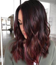 Beautiful hair color looks red brown photo by @hairbyhollyct