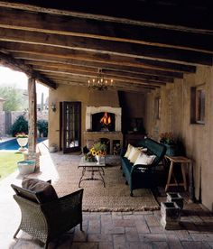Traditional Exterior Design, Pictures, Remodel, Decor and Ideas for Dream Home Outdoor Rooms, Outdoor Living, Indoor Outdoor, Rustic Outdoor, Outdoor Decor, Rustic Patio, Cozy Patio, Outdoor Seating, Country Patio