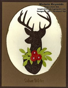 Remembering Christmas Framed Deer Wishes by Michelerey - Cards and Paper Crafts at Splitcoaststampers