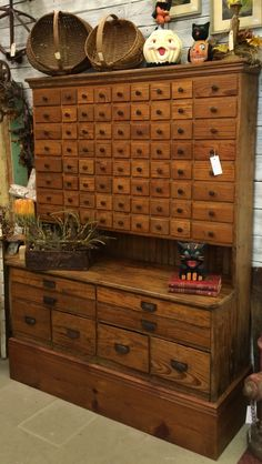 80-drawer apothecary cabinet