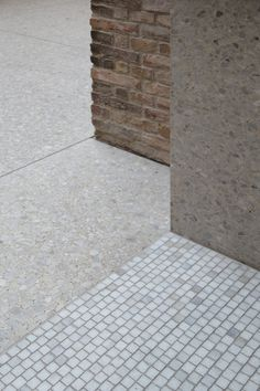 EU Mies Award 2011 Winner :: Neues Museum, Berlin David Chipperfield Architects (photo: dorotheedubois) junction of materials. Architecture Design, Landscape Architecture, Terrazzo, David Chipperfield Architects, Berlin Museum, Paving Pattern, Floor Texture, Floor Patterns, Concrete Floors