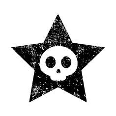 Awesome 'Cute+Skull+in+Star' design on TeePublic!