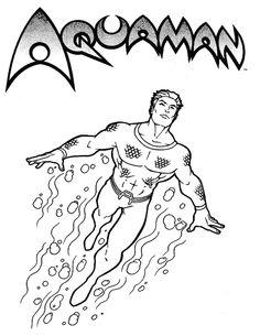 Coloriages à imprimer - Aquaman (Super-héros)