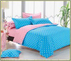 Blue Polka Dot Comforter Set