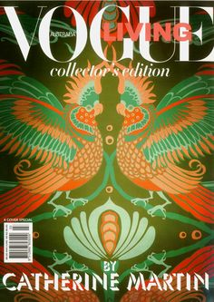 I loved this Vogue cover series by Catherine Martin