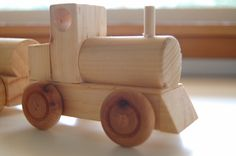 WOODEN TRAIN SET by TallEoLincoln on Etsy
