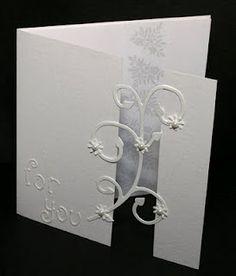 Swirl flourish gap card