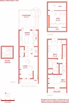 images about Home Decor on Pinterest   Floor Plans  House    Narrow townhouse floor plan  Photos at the link