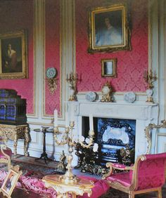The Red Drawing Room Belton House. image country Life December 2004
