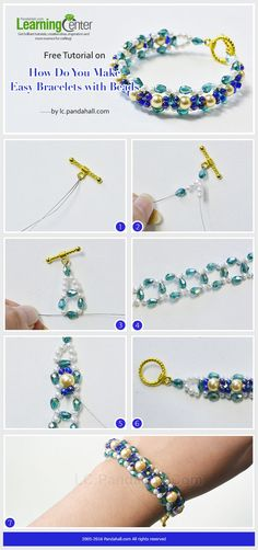 Easy Bracelets with Beads Tutorial from LC.Pandahall.com