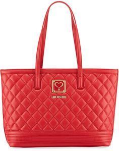 Love Moschino Faux Napa Quilted Tote Bag N6hfnFdNiK