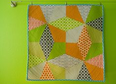 a stitch in dye: Kaleidoscope Table Topper Tutorial and Giveaway Extravaganza
