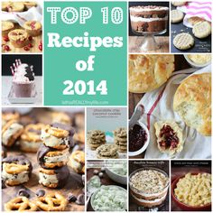 Top 10 Recipes of 2014 from isthisreallymylife.com. These are so yummy, and of course most are desserts! #recipes #top10