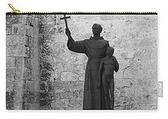 Carry-all Pouch featuring the photograph Cuba Church Yard And Statue by Francesca Mackenney