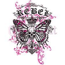 Rebel~Butterfly Skull Goth - Pro World