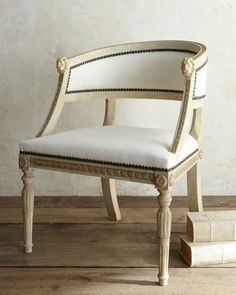 """""""Swedish"""" Bergere Armchair by Tara Shaw at Horchow."""