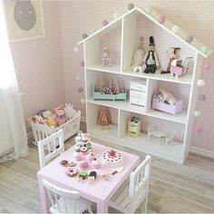 sweet is this play room set-up for a little girl? How sweet is this play room set-up for a little girl?How sweet is this play room set-up for a little girl? Baby Bedroom, Girls Bedroom, Bedroom Ideas, Bedroom Themes, Bedroom Designs, Bedroom Decor, Toddler Rooms, Toddler Girl, Girl Toddler Bedroom