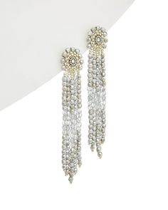 Miguel Ases 14K Filled Crystal Drop Earrings #MiguelAses #NA