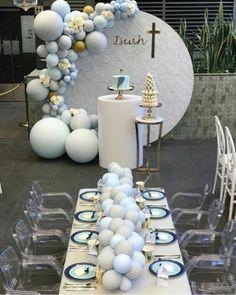 62 Ideas Baby Boy Baptism Ideas Christening Crosses For 2019 Baby Boy Baptism, Baptism Party, Baby Party, Baby Shower Parties, Baby Shower Themes, Baby Boy Shower, Baptism Ideas, Baptism Decorations, Balloon Decorations