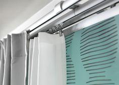 Can have more than one rail on a wall hardware KVARTAL Single track rail - IKEA