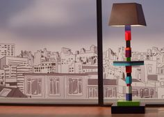 Standard lamp Pied-Jeu on a French TV show. Custom made colours. By Les Pieds Sur La Table