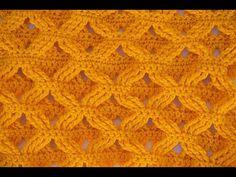Muestra punto espigas a crochet - YouTube