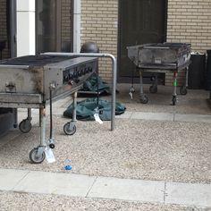 Random grills next to the dorms.