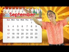This September calendar song celebrates the month of September. Learn that September has 30 days, the season of summer ends and the season of fall begins, we. Calendar Songs, Calendar Time, September Song, September Calendar, September Preschool, Fall Preschool, Music Activities For Kids, Music For Kids, Fun Songs