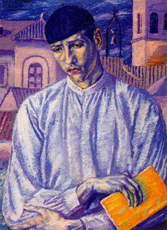 Joven lector by Benjamin Palencia (Spanish 1894-1980)