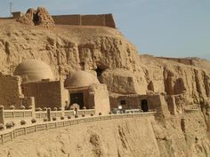 Gaochang (Chinese: 高昌; pinyin: Gāochāng), also called Qara-hoja or Kara-Khoja (قاراھوجا in Uyghur), is the site of an ancient oasis city built on the northern rim of the inhospitable Taklamakan Desert in Xinjiang, China, along the Silk Road.