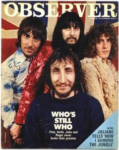 Sixties | The Who on the cover of Observer