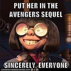 "Cause I'd really love to see her tell Thor ""No capes!"""