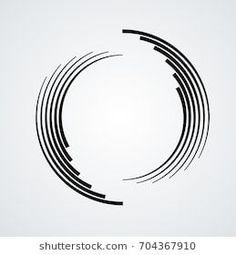Lines Circle Form Spiral Vector Illustration Stock Vector (Royalty Free) 704367910 Circle Graphic Design, Geometric Shapes Design, Geometric Circle, Geometric Logo, Round Logo Design, Logo Personnel, Rundes Logo, Logo Shapes, Circle Logos