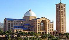 Foto da Basílica de Aparecida, cidade conhecida mundialmente como a capital da fé. #faith #religious