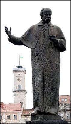 Lviv - Taras Shevchenko - National Poet , Ukraine,