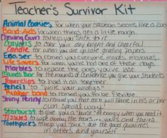 Teacher's Survivor Kit