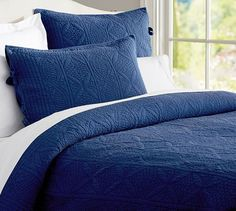 Hanna Quilt, Full/Queen, Dark Twilight Blue