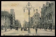 Anônimo. Avenida Central, década 1910. Rio de Janeiro Brasiliana Fotográfica