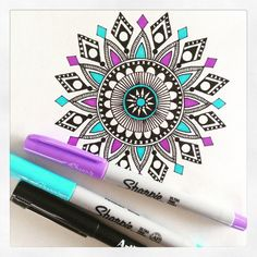 Cool pictures and designs cool designs to draw best sharpie doodles Cool Patterns To Draw, Cool Designs To Draw, Sharpie Drawings, Cool Drawings, Sharpie Doodles, Sharpie Zeichnungen, Flyer Inspiration, Desenhos Love, Mandala Drawing