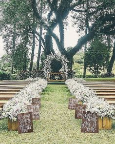 Outside wedding decorations 100 awesome outdoor wedding aisles youll love outdoor wedding Perfect Wedding, Fall Wedding, Dream Wedding, Wedding Rustic, Wedding Story, Trendy Wedding, Elegant Wedding, Wedding Simple, Diy Wedding