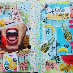 Day 38 et Day 39 #100dayproject #100daysofmyajcollage #artjournal #artwork #artcollage #artchallenge #collage #pages #journal #scrapjournal #instamoment #instacreative #angry #bananas #52motifsdexpressionlibre pour le motif 21