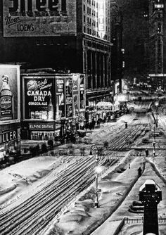 times square coated in white, 1947 (detail)  © herb scharfman