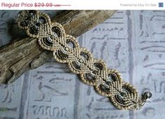 SALE Micro macrame bracelet in sandy colors. Macrame jewelry.. $26.99, via Etsy.