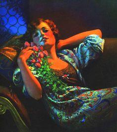 Art and women. Image detail for -Gene Pressler Victor Nizovtsev, Vintage Art, Vintage Ladies, Pin Up Illustration, Illustrations, Work In New York, Beauty In Art, Pin Up Art, Art Deco Jewelry