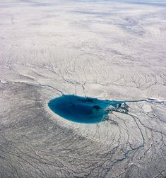 Meltwater pool on Greenland Icecap
