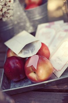 peach sweet tea escort cards by Southern Fried Paper