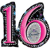 Sweet Sixteen Foil Balloon 28in