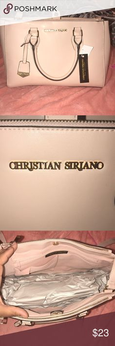 Pink tote purse Cute pink top handle bag with strap and gold details Christian Siriano Bags Totes